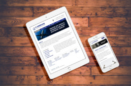 Cadence Aerospace responsive web design on ipad and iphone by advertising agency in Philadelphia