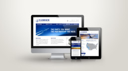 Cadence Aerospace responsive website design by advertising agency in Philadelphia