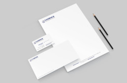 Cadence Aerospace branding stationery design by advertising agency in Philadelphia