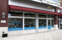 Dranoff Realty window graphics by advertising agency in Philadelphia