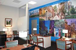 Dranoff Realty sales office mural by advertising agency in Philadelphia