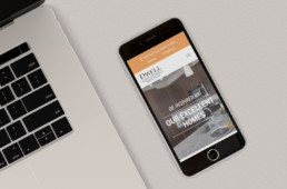 Dwell Nona Place web design responsive on phone by advertising agency in Philadelphia