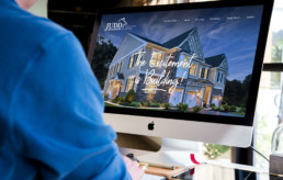 Judd Builders website redesign on desktop computer by advertising agency in Philadelphia
