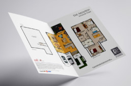 The Reserve at Creekside floorplan insert design by advertising agency in Philadelphia