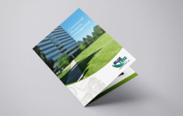 Bluetree Landscaping brochure cover design by advertising agency in Philadelphia