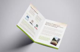 Bluetree Landscaping brochure inside design by advertising agency in Philadelphia