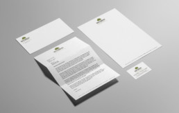 Envision Landscaping stationery design by advertising agency in Philadelphia