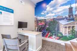 The Reserve at Glen Loch sales office mural by advertising agency in Philadelphia