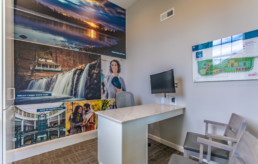 The Reserve at Glen Loch sales office mural and siteplan by advertising agency in Philadelphia