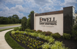 Dwell Cherry Hill monument sign by advertising agency in Philadelphia