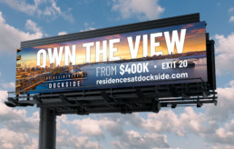 The Residences at Dockside billboard design by advertising agency in Philadelphia