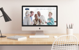 Hayes Manor Retirement Residence website redesign on desktop computer by advertising agency in Philadelphia