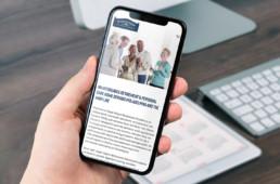 Hayes Manor Retirement Residence website design on iphone by advertising agency in Philadelphia