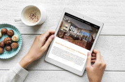 The Residences at Dockside website design on ipad by advertising agency in Philadelphia